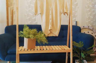Kệ gỗ chữ A Hàn Quốc – Kệ gỗ di động decor trong phòng